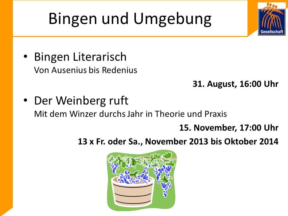 Bingen und Umgebung Bingen Literarisch Von Ausenius bis Redenius 31.