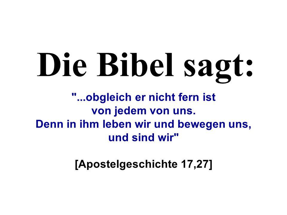 Du denkst es gibt keine Veranlassung, an Gott zu glauben...