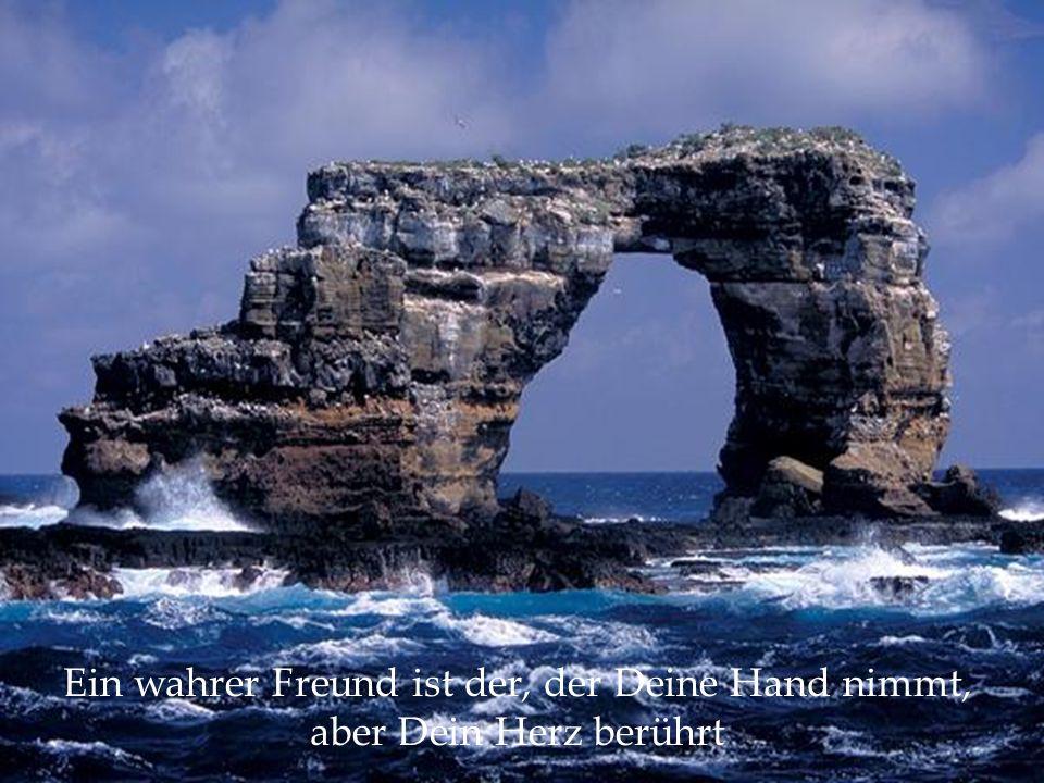 Ein wahrer Freund ist der, der Deine Hand nimmt, aber Dein Herz berührt