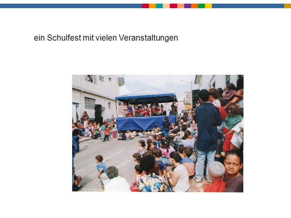 Schulfest ein Schulfest mit vielen Veranstaltungen