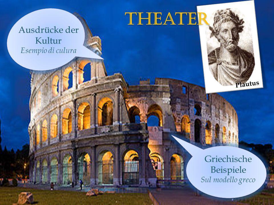 theater Ausdrücke der Kultur Esempio di culura Griechische Beispiele Sul modello greco Plautus