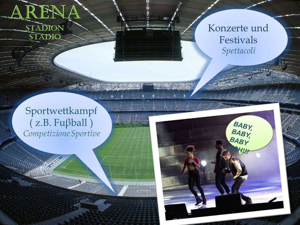 ArenaStadionstadio Konzerte und Festivals Spettacoli Sportwettkampf ( z.B.