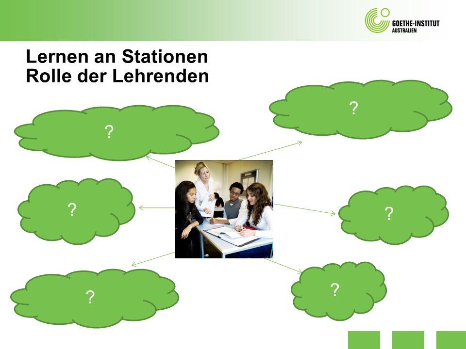 Lernen an Stationen Rolle der Lehrenden ? ? ? ? ? ?