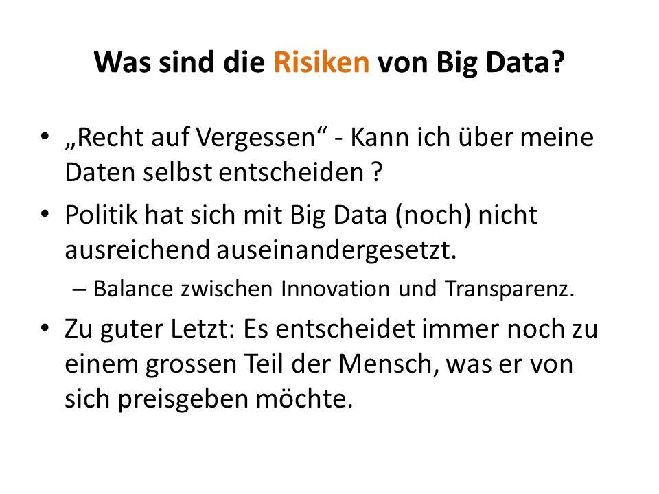 Recht auf Vergessen - Kann ich über meine Daten selbst entscheiden ? Politik hat sich mit Big Data (noch) nicht ausreichend auseinandergesetzt. – Bala