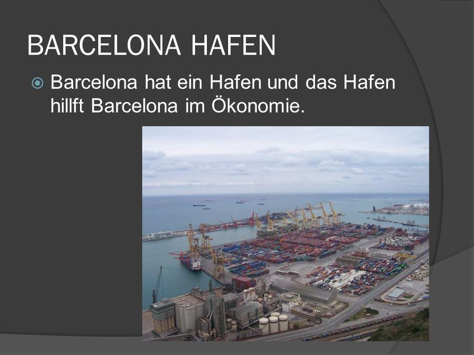 BARCELONA HAFEN Barcelona hat ein Hafen und das Hafen hillft Barcelona im Ökonomie.