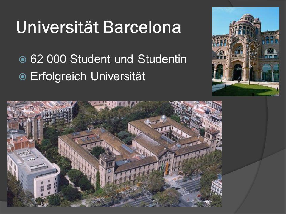 Universität Barcelona 62 000 Student und Studentin Erfolgreich Universität