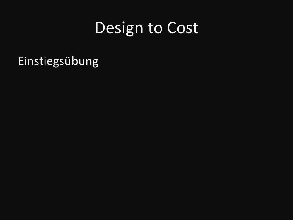 Design to Cost Einstiegsübung