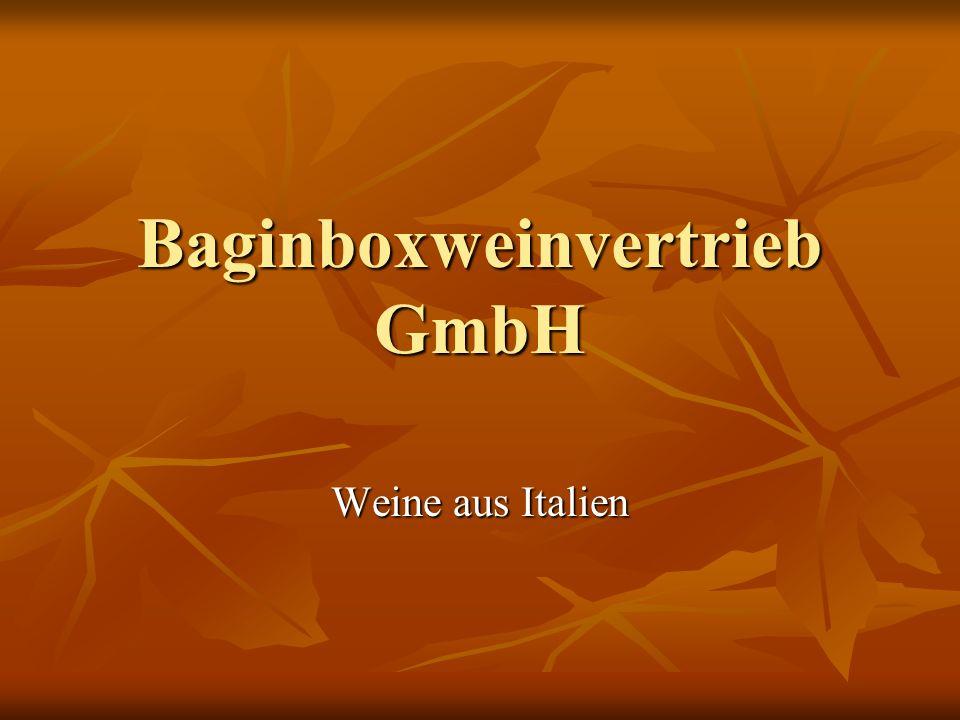 Baginboxweinvertrieb GmbH Weine aus Italien