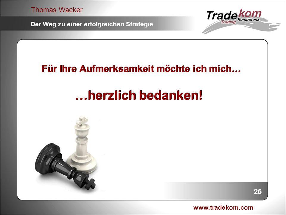 www.tradekom.com Thomas Wacker Der Weg zu einer erfolgreichen Strategie Für Ihre Aufmerksamkeit möchte ich mich… …herzlich bedanken! 25