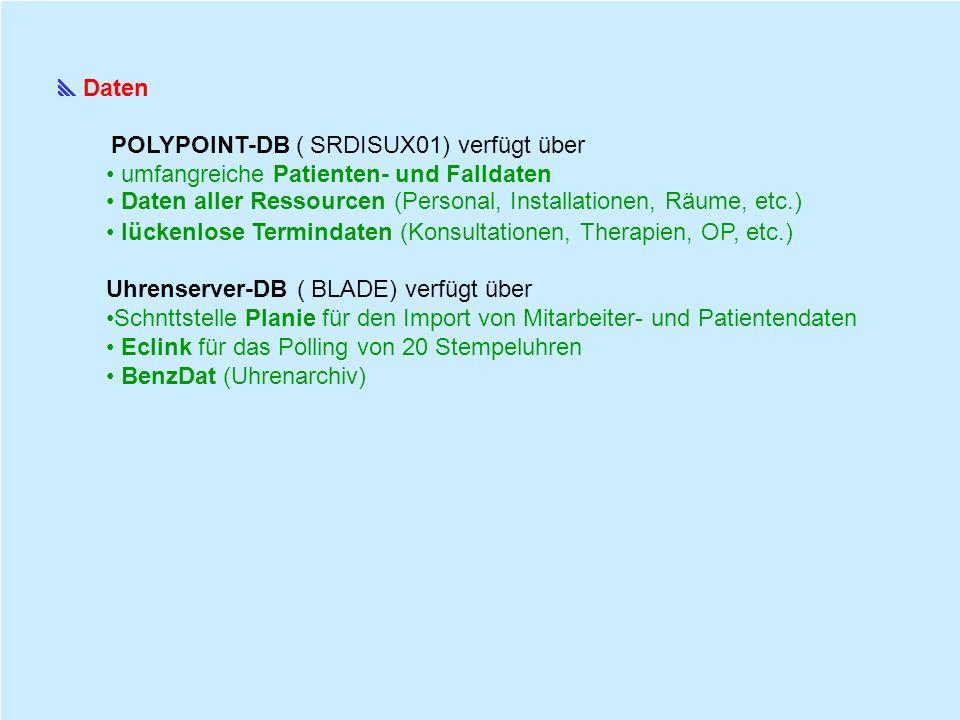 POLYPOINT N E U Schnittstellezu SAP HR Absenzenverwaltung ( Wegfall von Gelbem Zettel, alle Absenzendaten werden SAP zur Auswertung zur Verfügung gestellt.