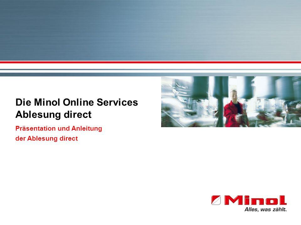 Die Minol Online Services Ablesung direct Präsentation und Anleitung der Ablesung direct