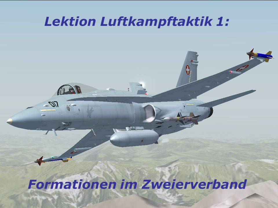 Luftkampftaktik Phase II: Auslösung:Sobald abdrehendes Flugzeug 135° hinter Flugrichtung Reaktion:Das innere Flugzeug dreht mit 3-4G in die befohlene Richtung 135° One breaking Left.