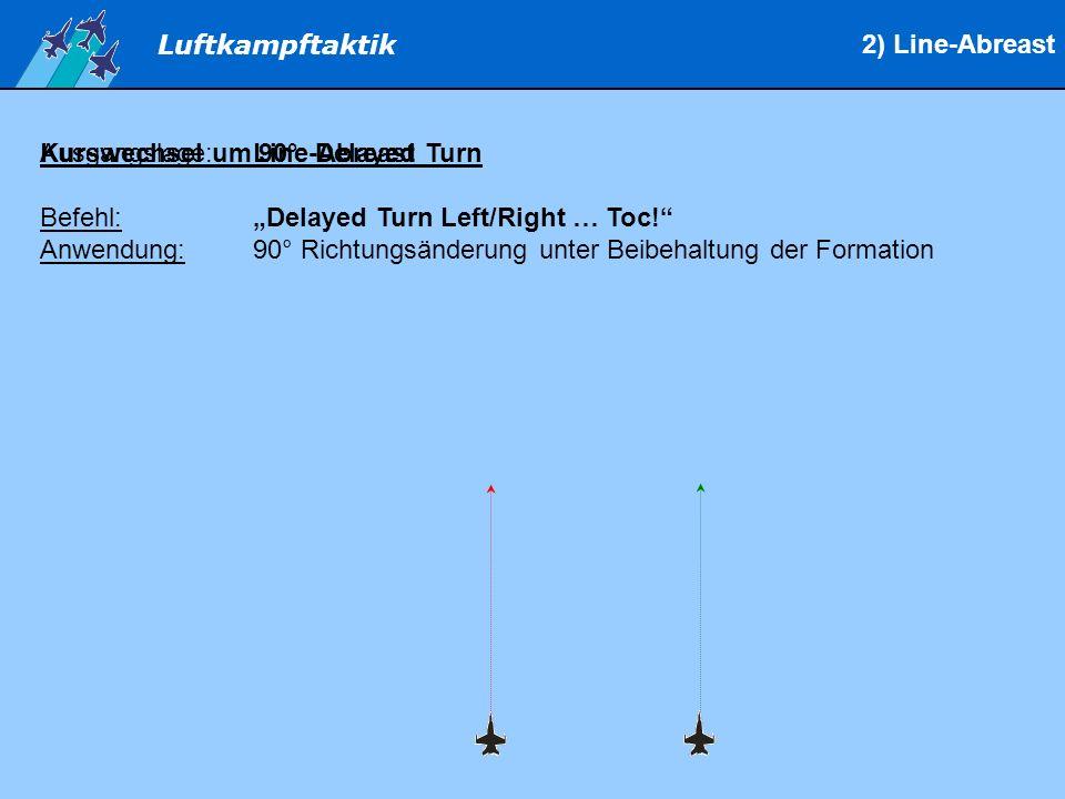 Luftkampftaktik Kurswechsel um 90°: Delayed Turn Befehl:Delayed Turn Left/Right … Toc.