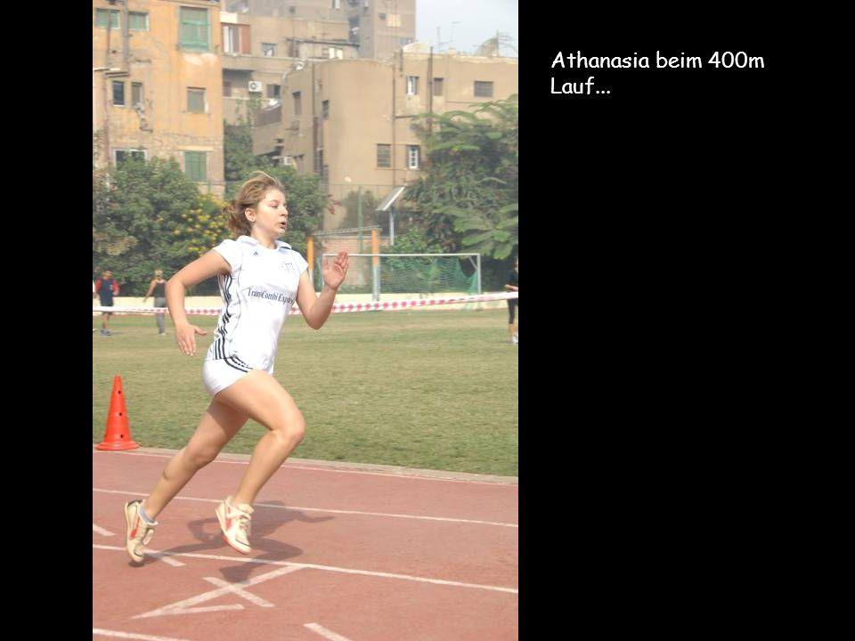 Athanasia beim 400m Lauf...