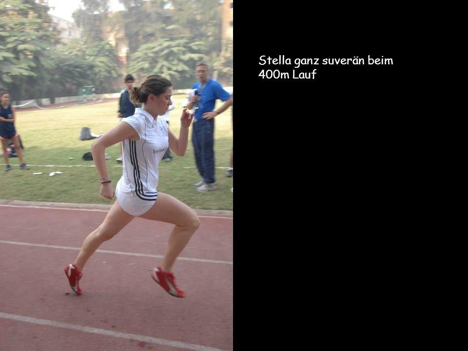 Stella ganz suverän beim 400m Lauf
