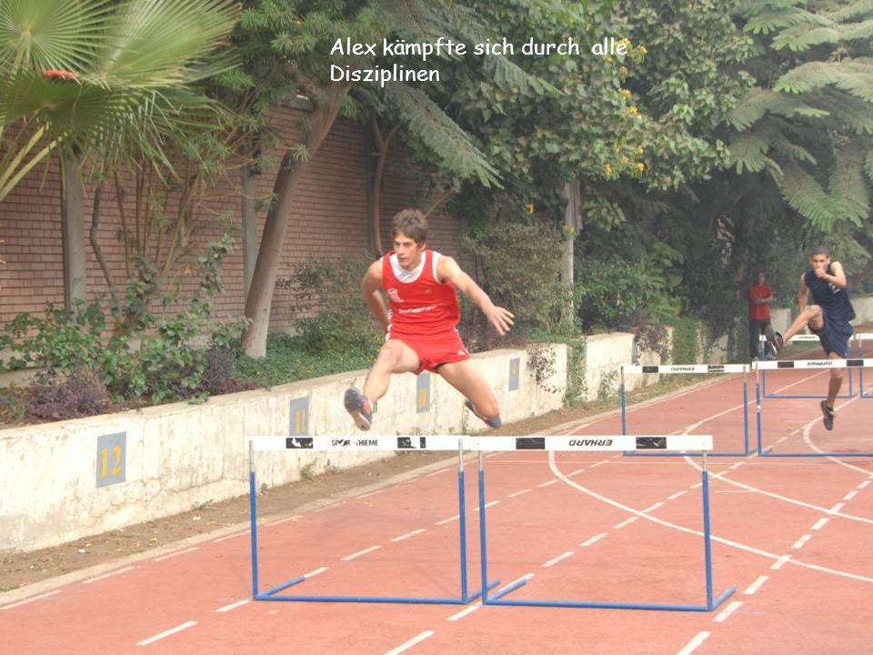 Alex kämpfte sich durch alle Disziplinen