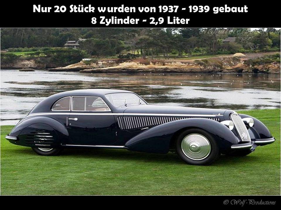 Nur 20 Stück wurden von 1937 - 1939 gebaut 8 Zylinder - 2,9 Liter