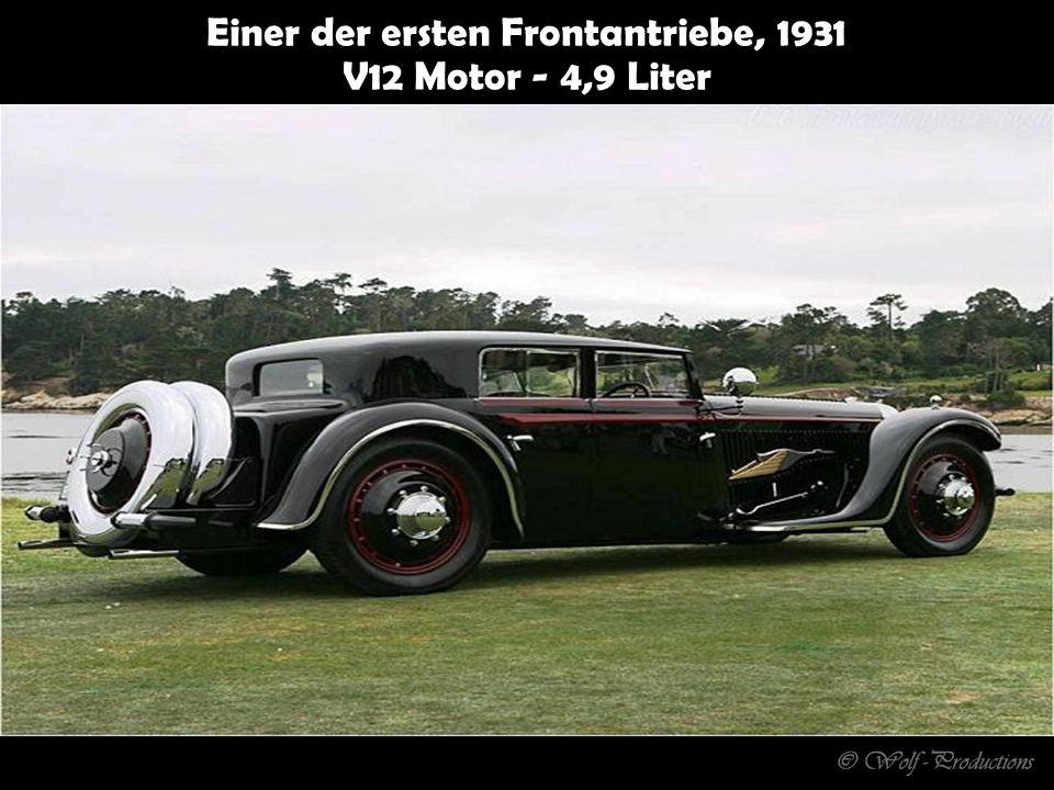 Einer der ersten Frontantriebe, 1931 V12 Motor - 4,9 Liter