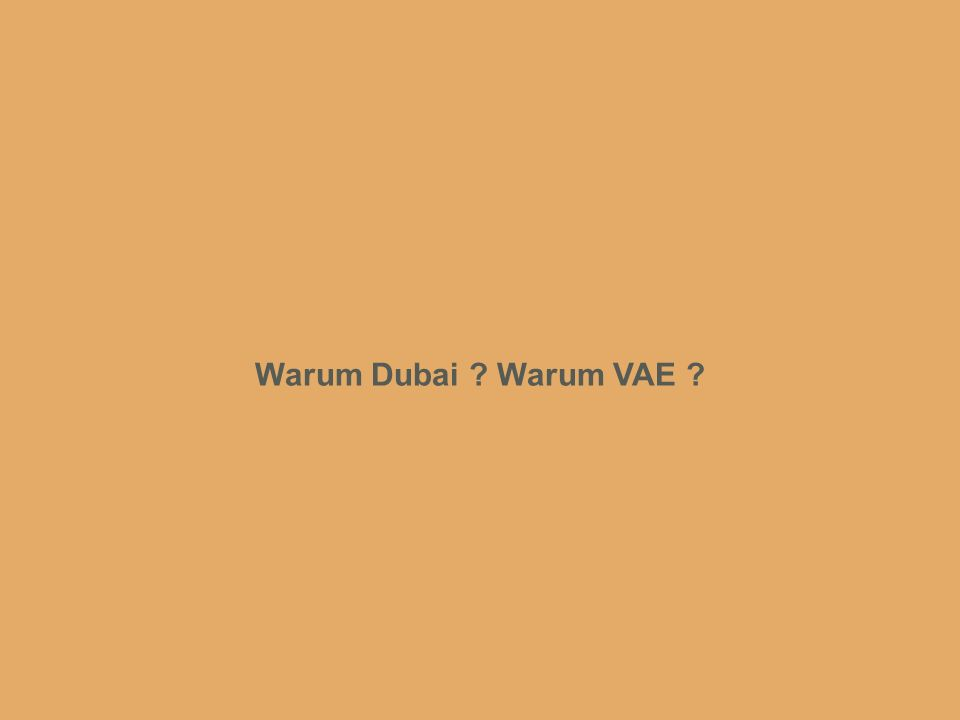 www.intergest.com International Management and Business Administration Warum Dubai ? Warum VAE ?
