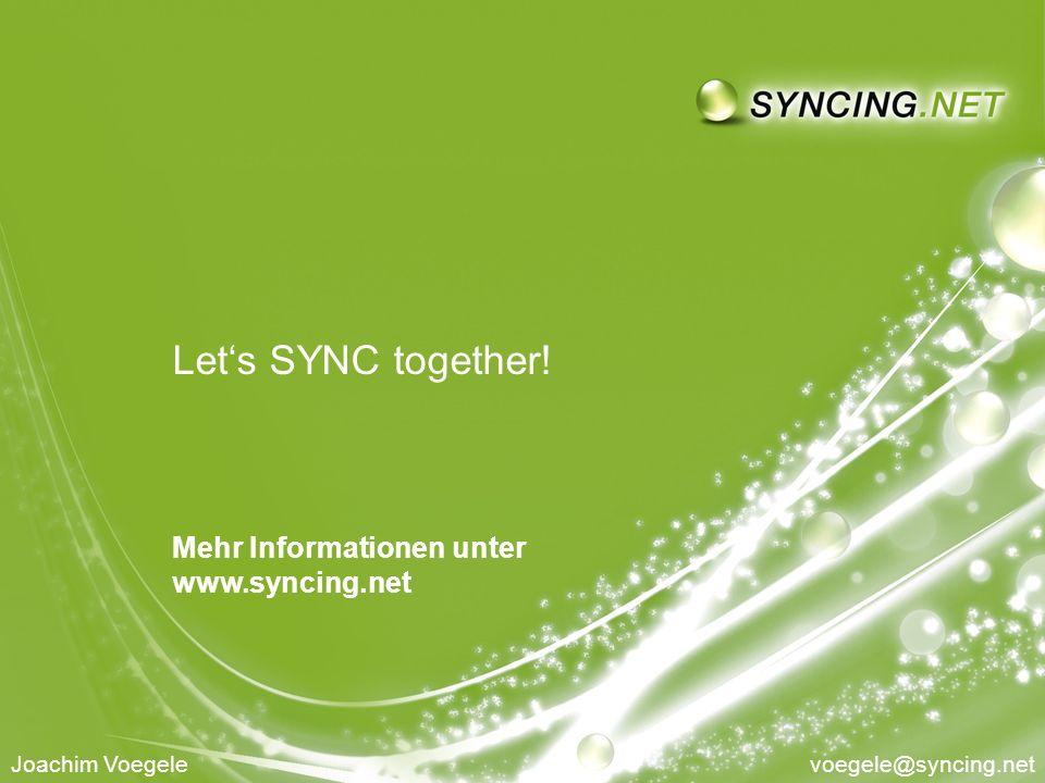 SYNCING.NET auf der IT & Business 2010 - Sichere Infrastruktur moderner, verteilter UnternehmenSeite 9 9 Lets SYNC together.