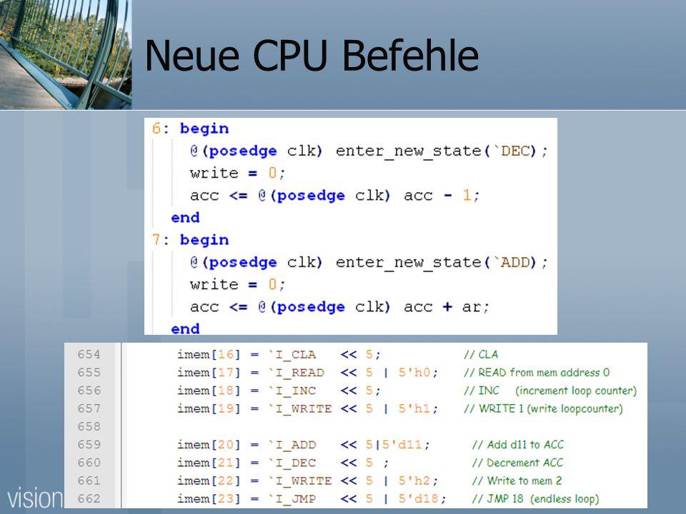 Neue CPU Befehle