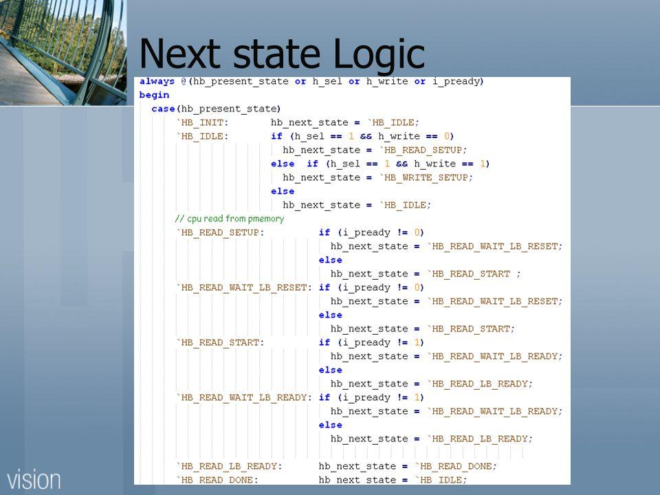 Next state Logic