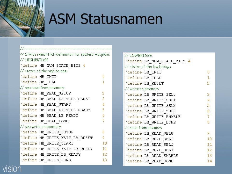 ASM Statusnamen