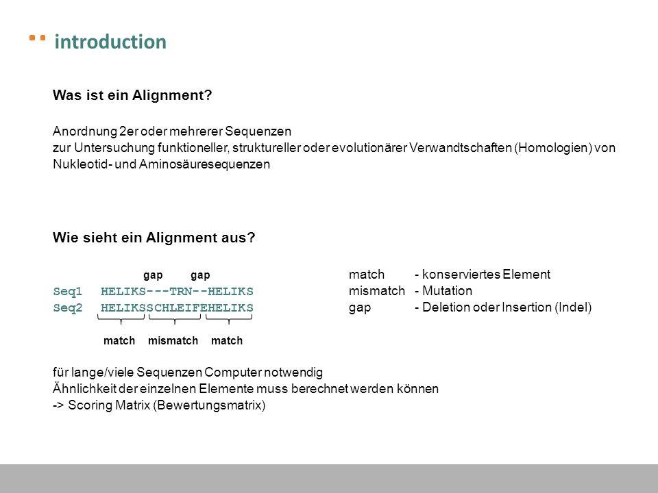introduction Welche Arten, Algorithmen und Software gibt es.