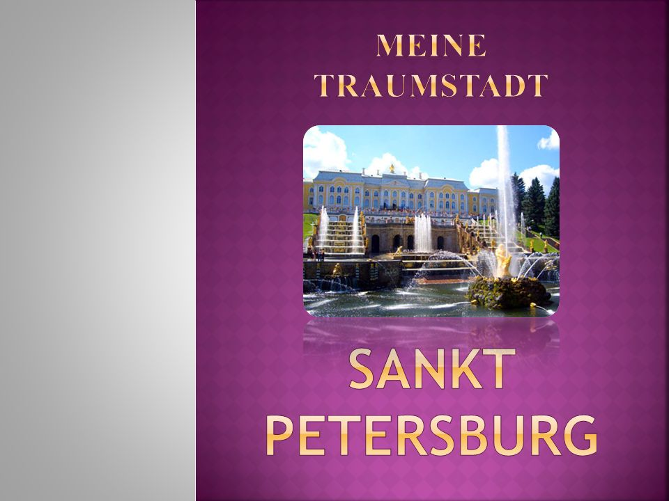 Gegründet - 1703 Frühere Namen - Petrograd, Leningrad Bevölkerung - 4.868.520 Einw. Wappen Flagge