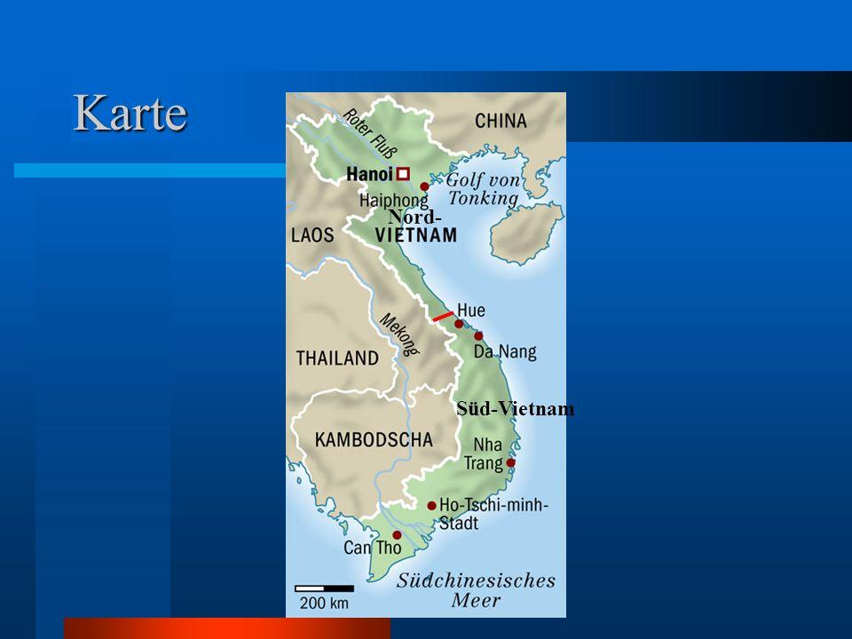 Karte Nord- Süd-Vietnam
