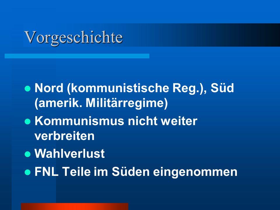 Vorgeschichte Nord (kommunistische Reg.), Süd (amerik.