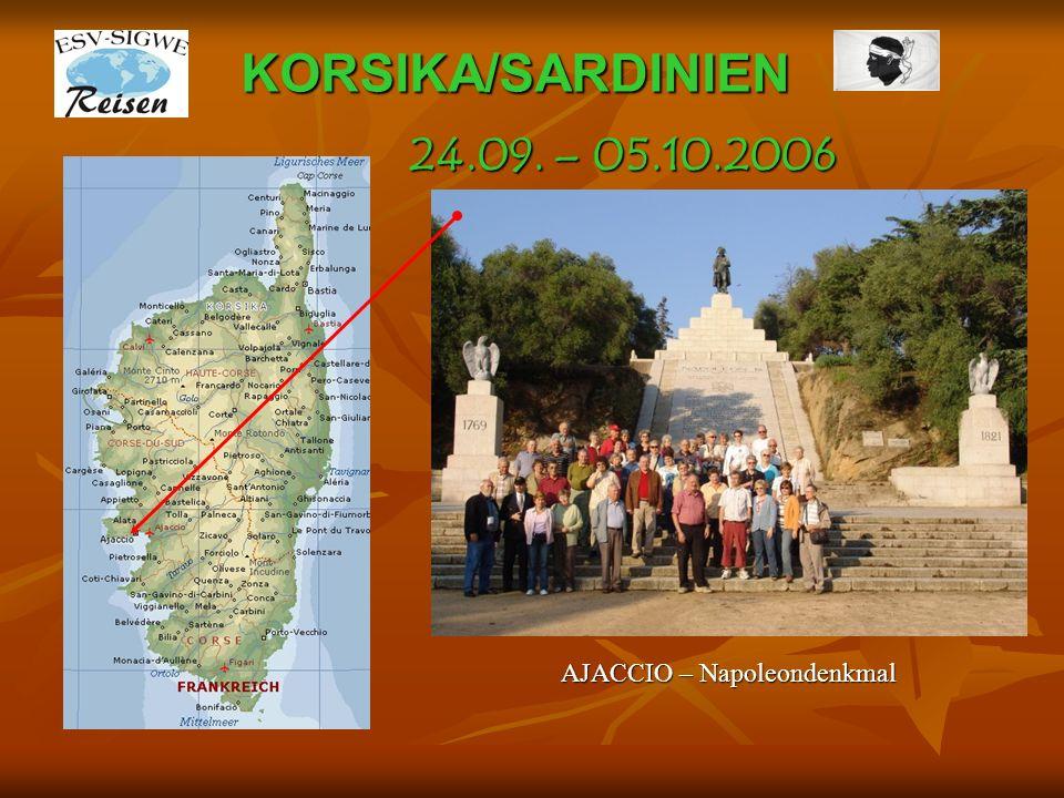 KORSIKA/SARDINIEN AJACCIO – Napoleondenkmal 24.09. – 05.10.2006