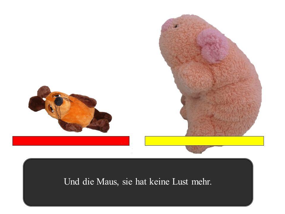 Rotze!!! Das Schwein beschmiert die Maus mit Rotze.