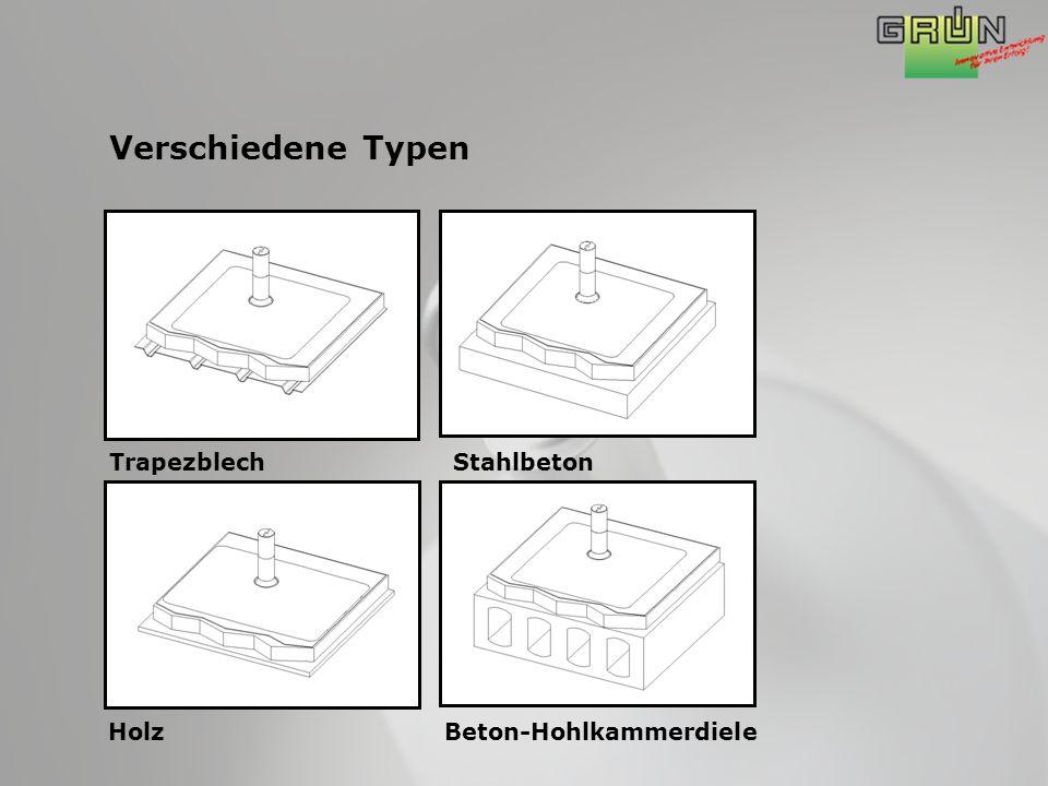 Verschiedene Typen TrapezblechStahlbeton HolzBeton-Hohlkammerdiele