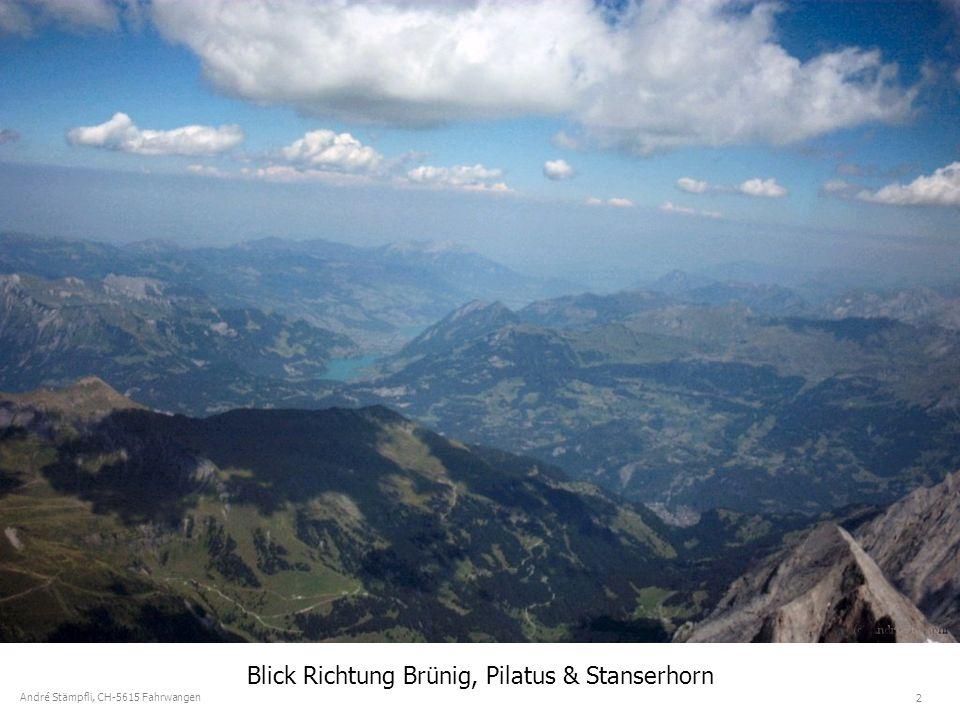 13 André Stämpfli, CH-5615 Fahrwangen Staunende Bergsteiger auf dem Mönch (4107m)