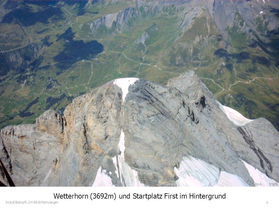 4 André Stämpfli, CH-5615 Fahrwangen Wetterhorn (3692m) und Startplatz First im Hintergrund