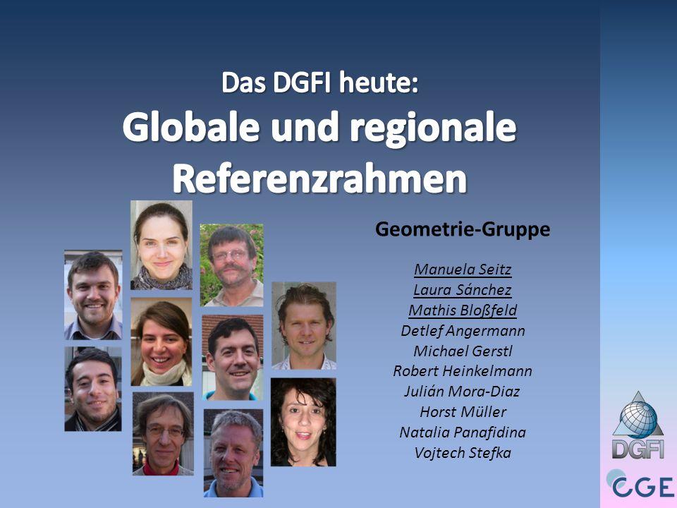 bessere Nutzung der individuellen Potenziale der Beobachtungs- verfahren Verbesserung der Konsistenz der Referenzrahmen – Globale und regionale Referenzrahmen – Terrestrische und zälestische Referenzrahmen Verknüpfung der terrestrischen Referenzrahmen mit existierenden Höhenbezugssystemen globale Vereinheitlichung der Höhenbezugssysteme Steigerung der Genauigkeit der Referenzrahmen: Ziel sind die Genauigkeitsanforderungen des Globalen Geodätischen Beobachtungssystems (GGOS) 60 Jahre DGFI - von der Triangulation zur geodätischen Erdsystemforschung, München 25.