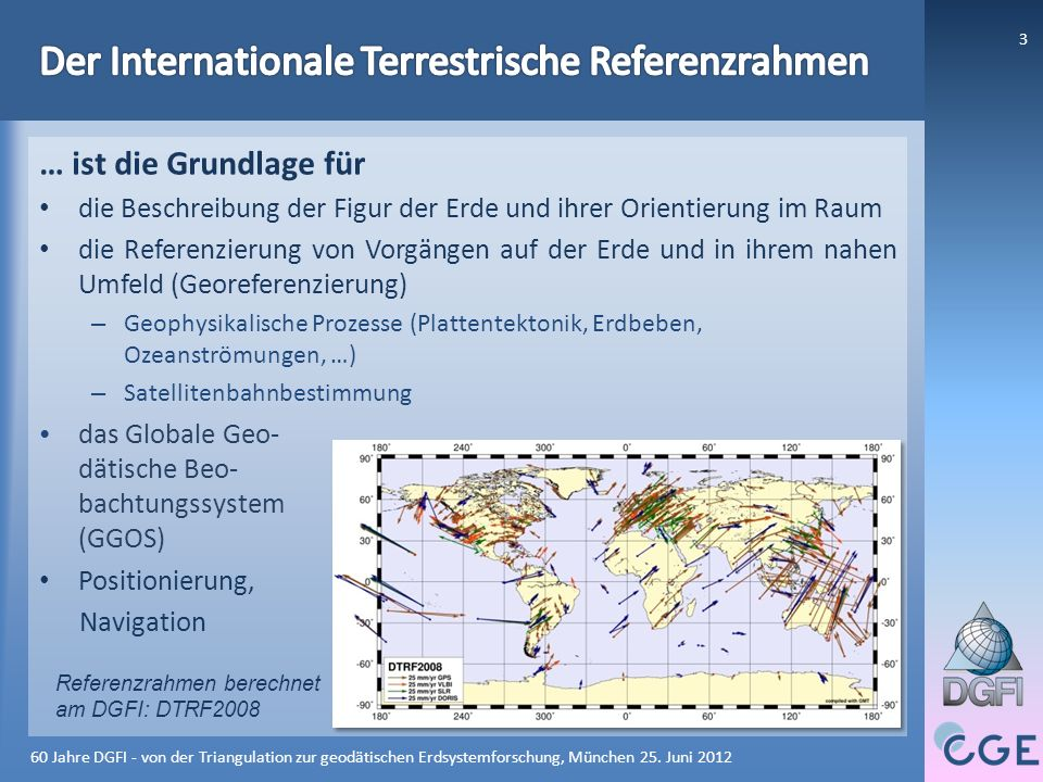 60 Jahre DGFI - von der Triangulation zur geodätischen Erdsystemforschung, München 25.