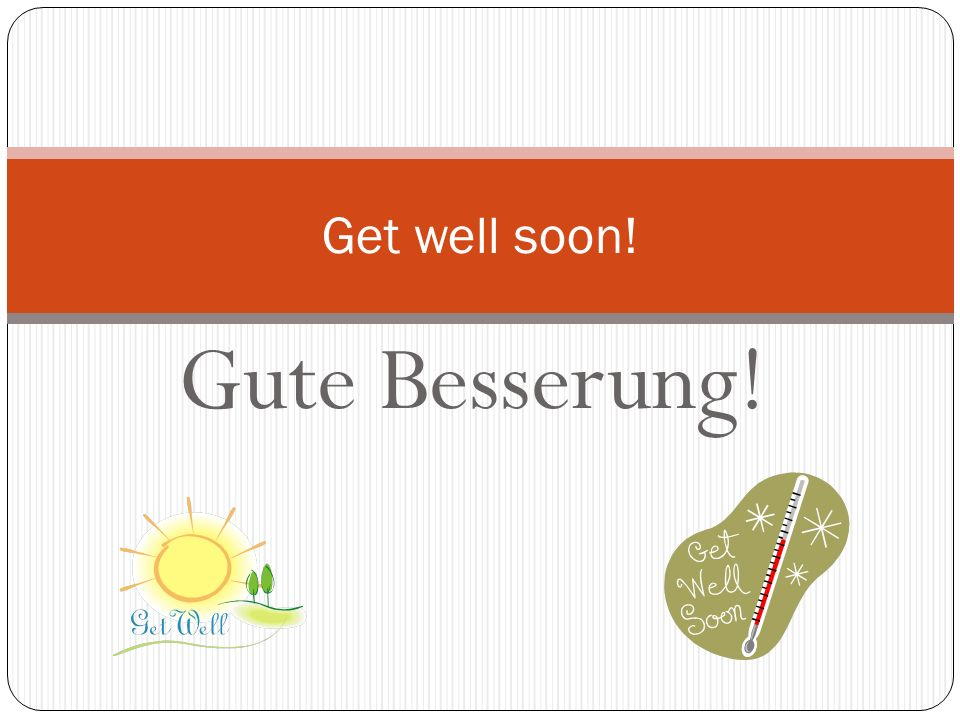 Viel Glück! Good luck!