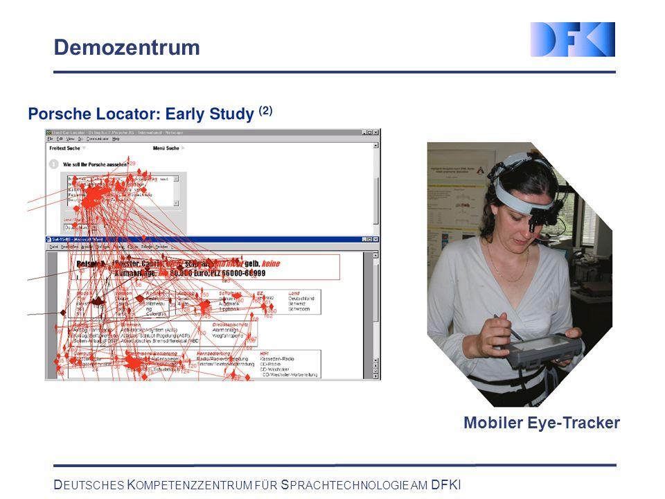 D EUTSCHES K OMPETENZZENTRUM FÜR S PRACHTECHNOLOGIE AM DFKI Demozentrum Mobiler Eye-Tracker