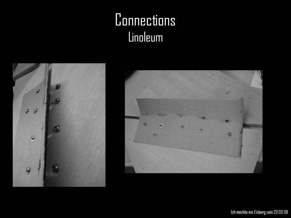 Connections Linoleum Ich möchte ein Eisberg sein 20 03 08