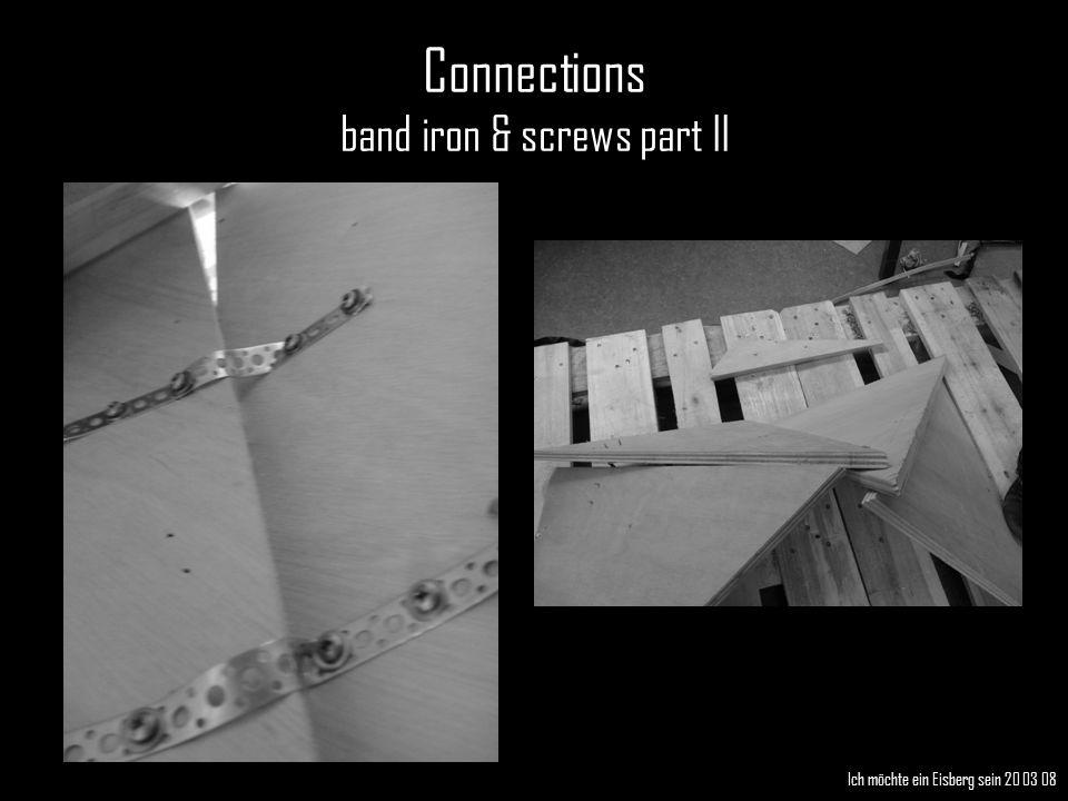 Ich möchte ein Eisberg sein 20 03 08 Connections band iron & screws part II