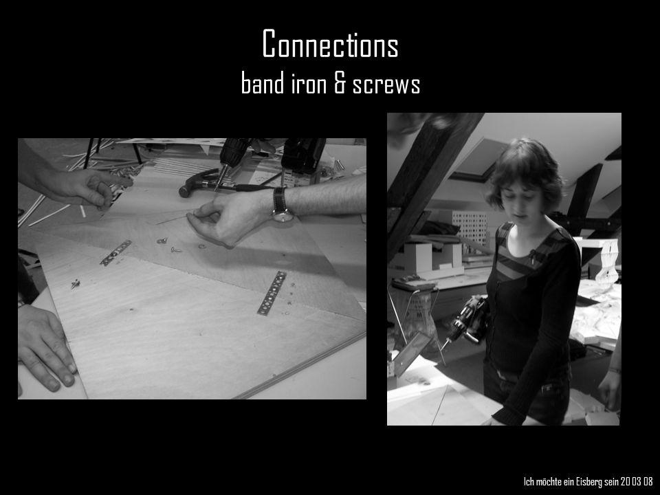 Connections band iron & screws Ich möchte ein Eisberg sein 20 03 08