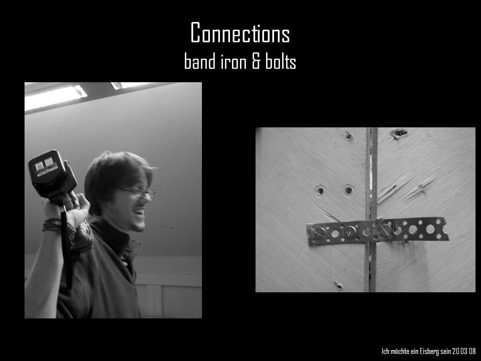 Connections band iron & bolts Ich möchte ein Eisberg sein 20 03 08