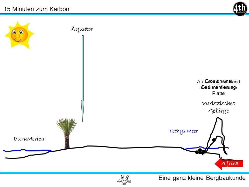 15 Minuten zum Karbon Eine ganz kleine Bergbaukunde Tethys Meer EuraMerica Africa Äquator Auffaltung am Rand der kontinentalen Platte Variszisches Gebirge Erosion und Sedimentierung Variszisches Gebirge