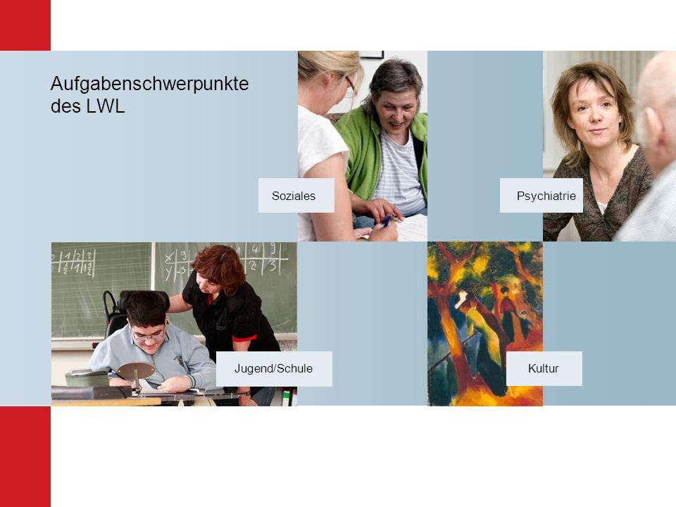 Aufgabenschwerpunkte des LWL Kultur Jugend/Schule Psychiatrie Soziales