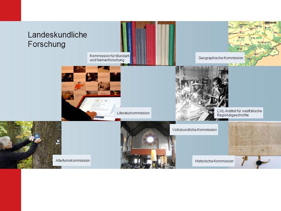 Landeskundliche Forschung Kommission für Mundart- und Namenforschung Literaturkommission LWL-Institut für westfälische Regionalgeschichte Geographisch