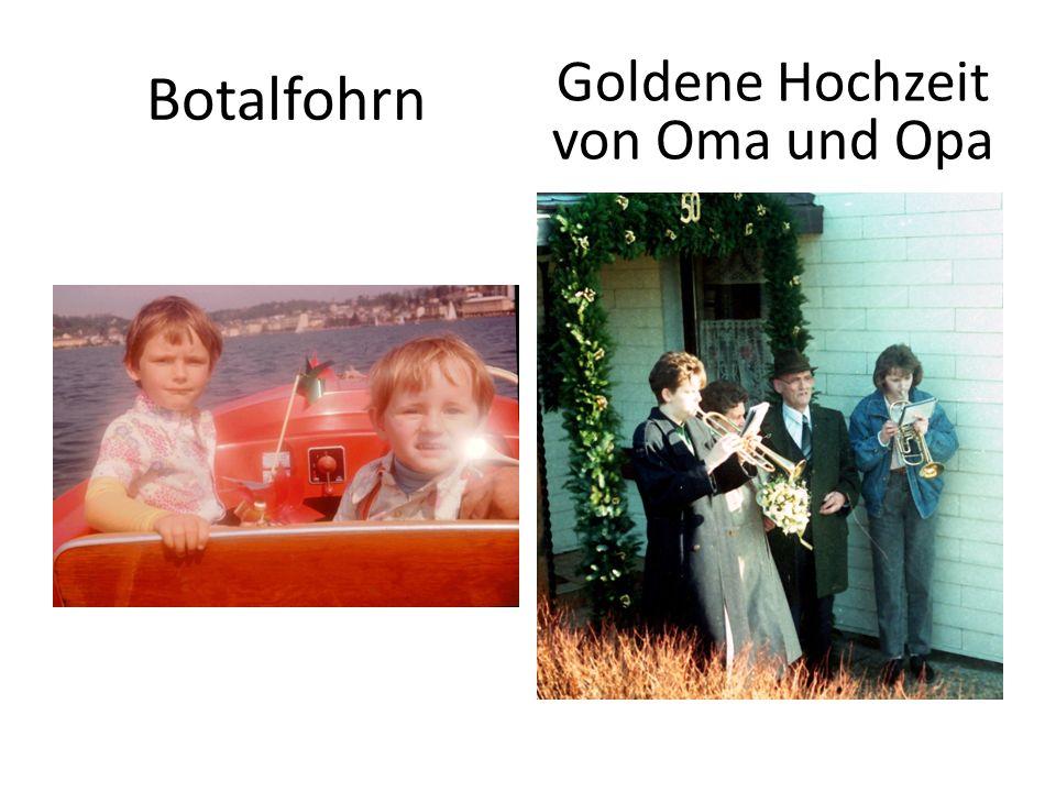 Botalfohrn Goldene Hochzeit von Oma und Opa