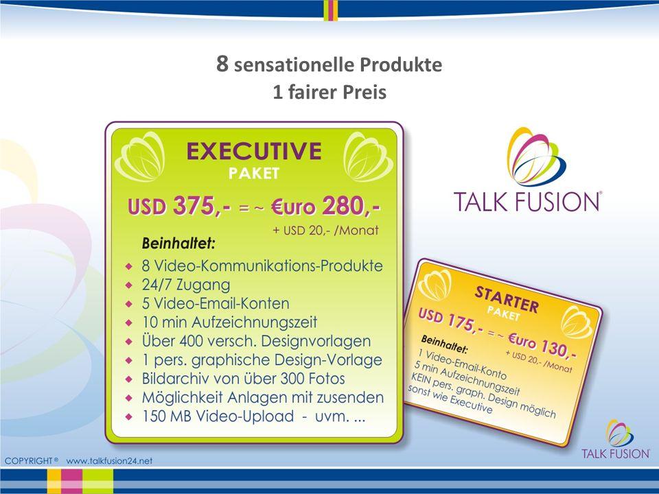 8 sensationelle Produkte 1 fairer Preis