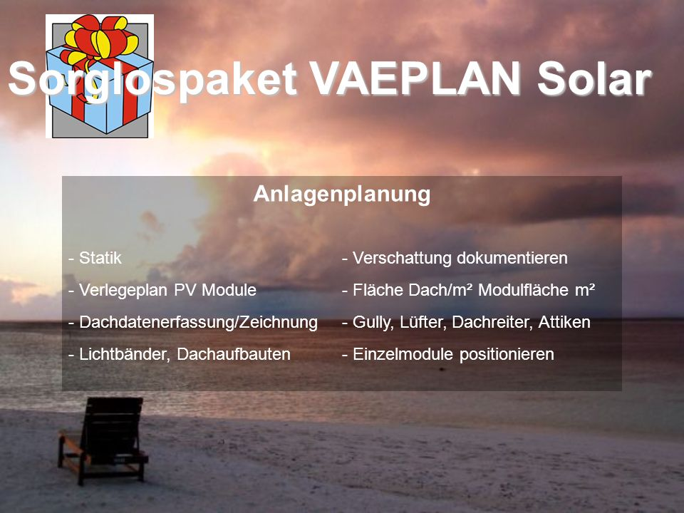 Anlagenplanung - Statik - Verschattung dokumentieren - Verlegeplan PV Module- Fläche Dach/m² Modulfläche m² - Dachdatenerfassung/Zeichnung- Gully, Lüf